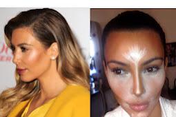 Technical Countouring Face Make-up style with Kim Kardashian