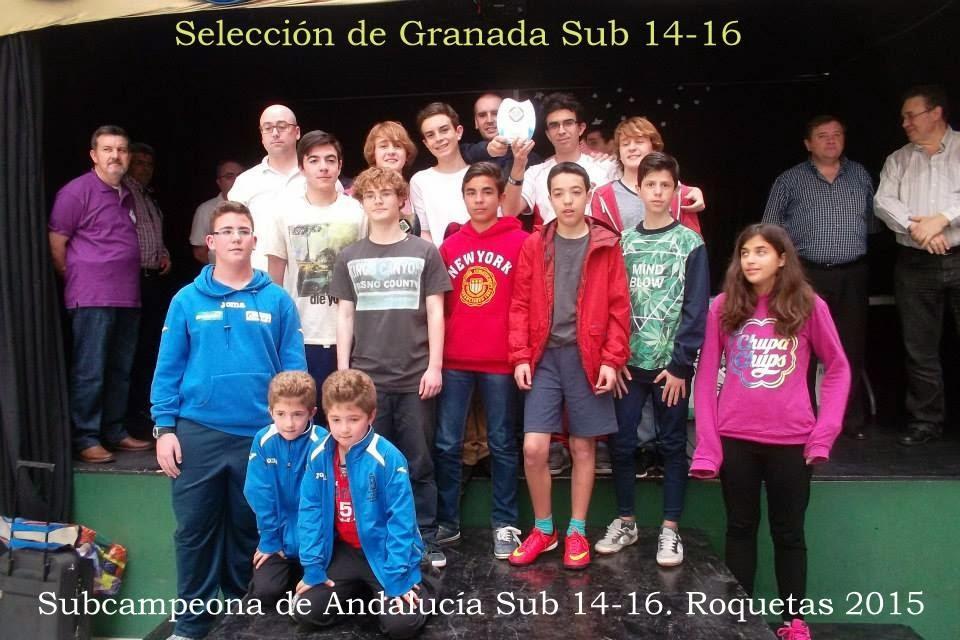 Selección de Granada Sub 14-16.