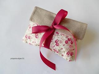 μπομπονιερα γαμου φακελος floral ρομαντικη φλοραλ