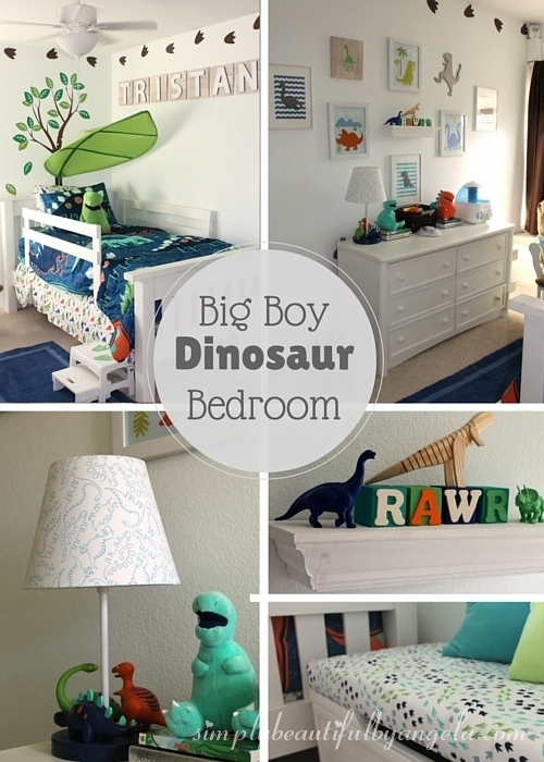 Simply beautiful by angela tristan 39 s big boy dinosaur for Diy room decor for 8 year olds