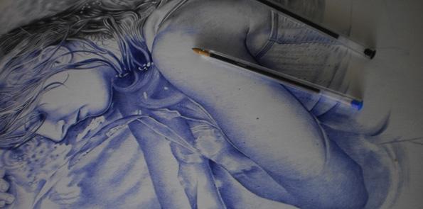 Anyelo González Dibujo a Bolígrafo