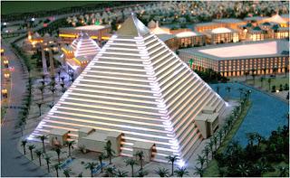 Falcon city pyramid