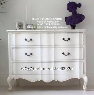 Supplier Indonesia Classic Furniture Supplier Classic Cabinet Supplier furniture white painted Jepara