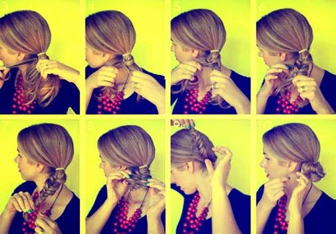 Foto Cara Mengepang Rambut Pendek