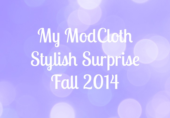 ModCloth Stylish Surprise - Fall 2014 October September what I got unboxing reveal