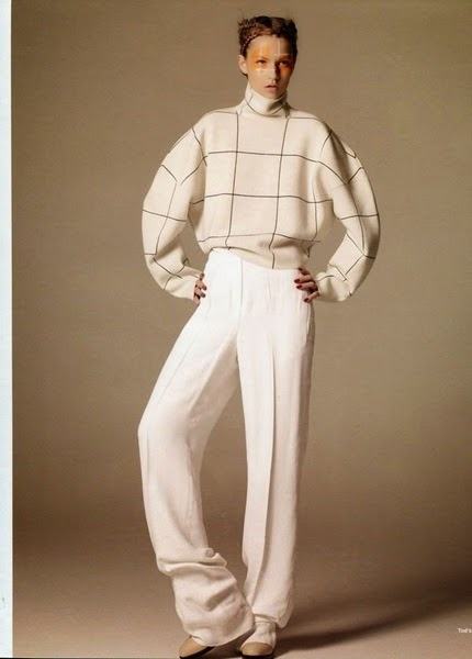 Tod's 2014 AW White Turtleneck Plaid Pullover