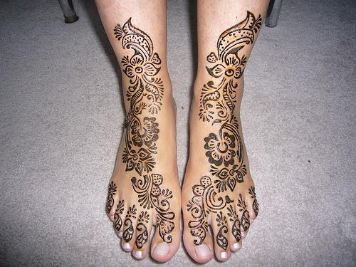 Arabic Mehndi Designs For Feet