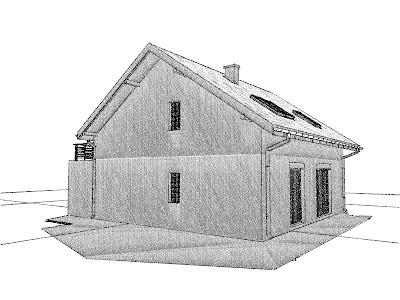 Architekt Rzeszow. Ściana pożarowa. Dom jednorodzinny z poddaszem użytkowym.