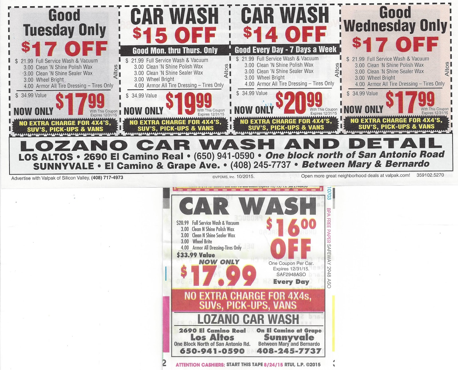 Kirks Market Thoughts Lozanos Car Wash Coupons Gain In Two - Silicon valley car show coupons