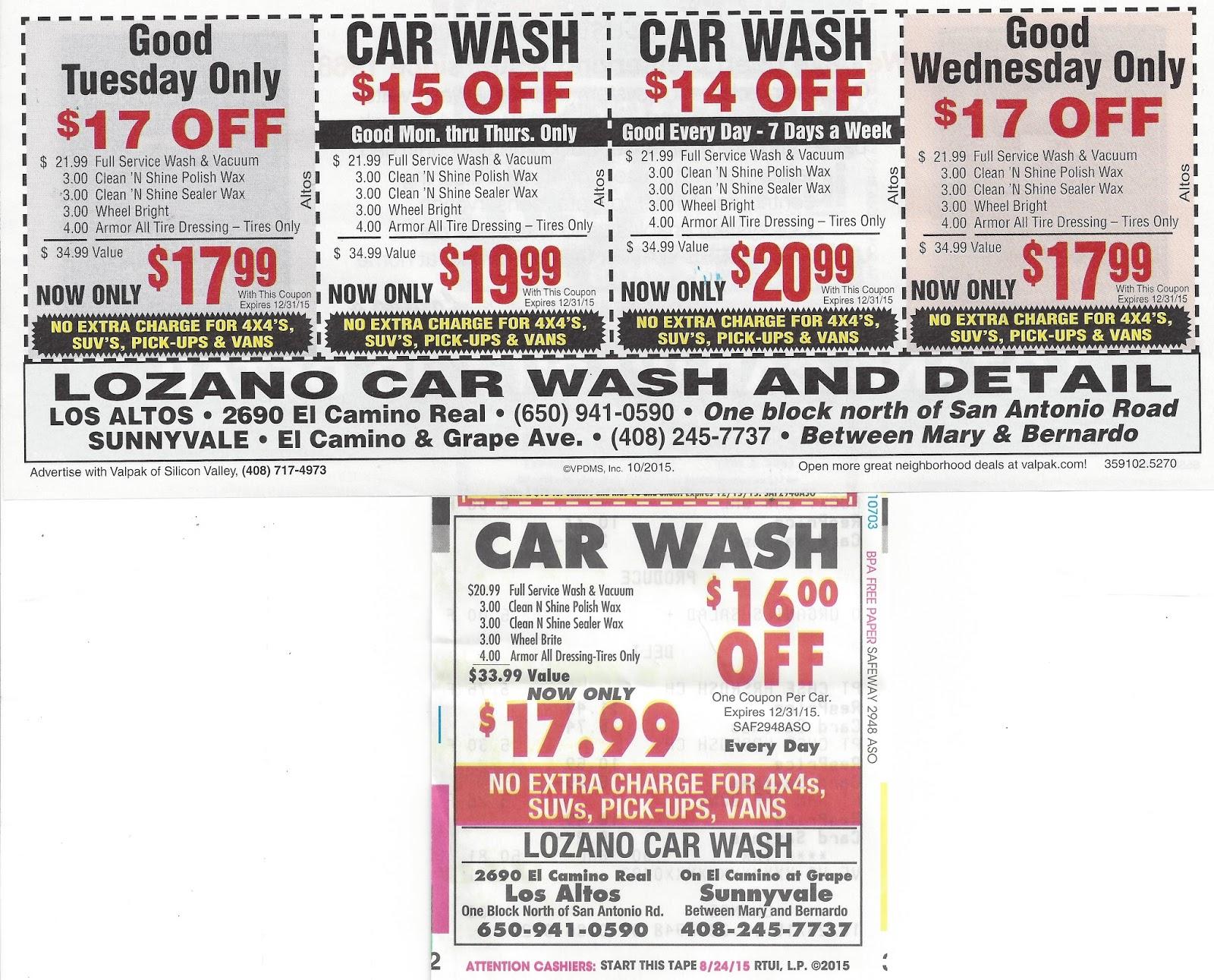 Fuller car wash coupons