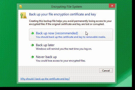 Encrypt Files And Folders In Windows 8.1  7