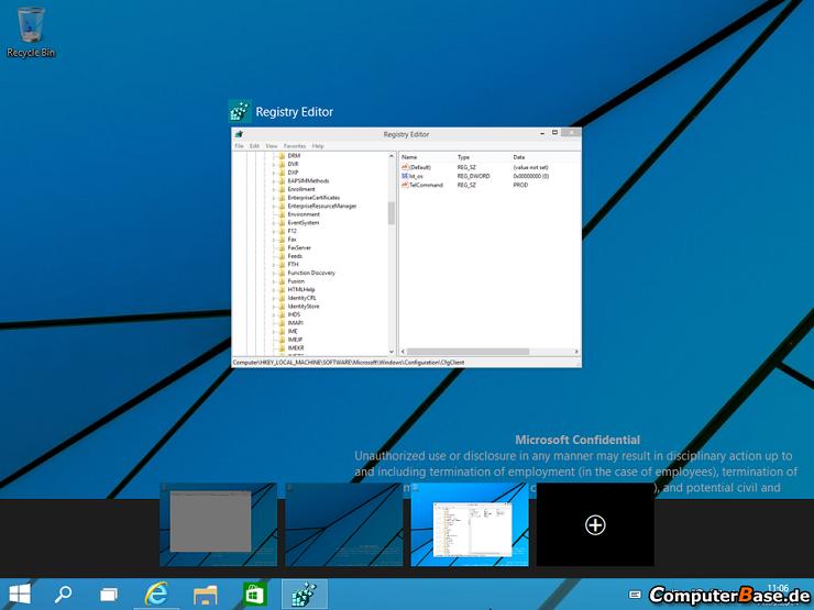 Windows 9'da çoklu pencere