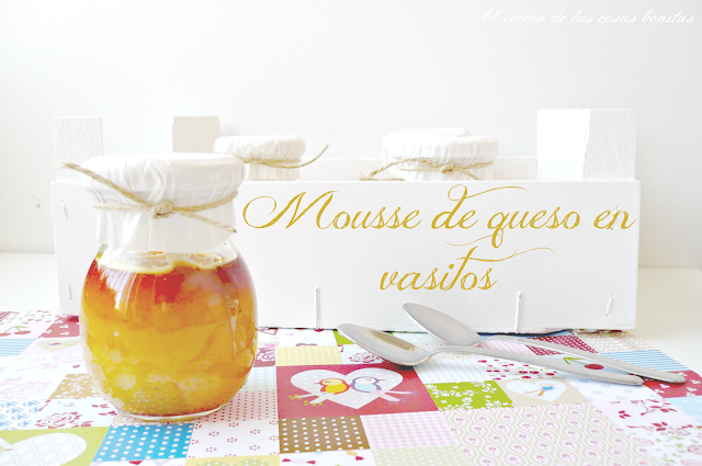 mousse queso en vasitos