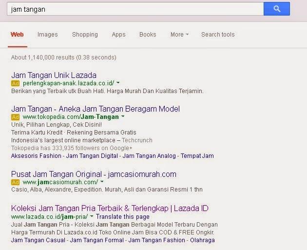 Keyword Jam Tangan Di Google.co.id