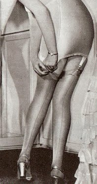 ... 20th century women s silk stockings were held up by suspender belts