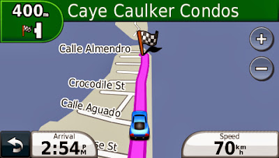 Garmin, Nuvi, Belize, Caye Caulker, Ambergris Cay, TomTom, Magellan