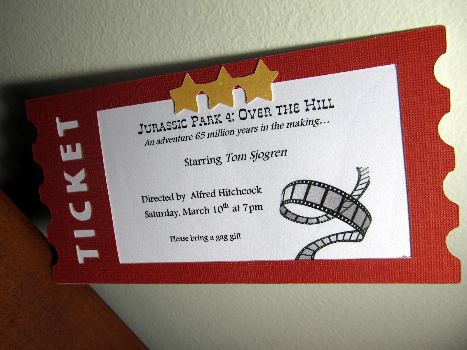 The Singing Shell Movie Ticket Invitation – Movie Ticket Invitations Template