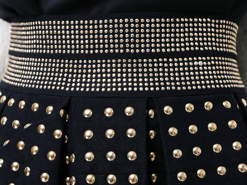 Studded Highwaist Structure Skirt