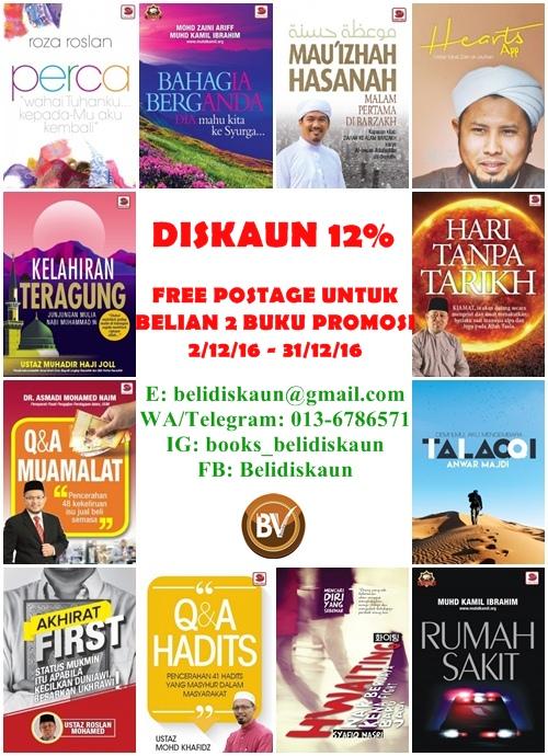 Diskaun 12% + Free Postage