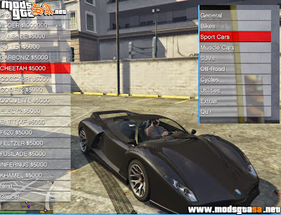 V - Mod Car Shop ( Comprar Carros) para GTA V PC