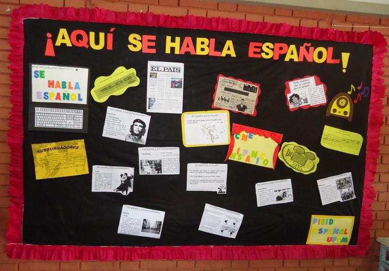 Pibid espa ol uftm mural inaugural do pibid espanhol na for Caracteristicas de un mural