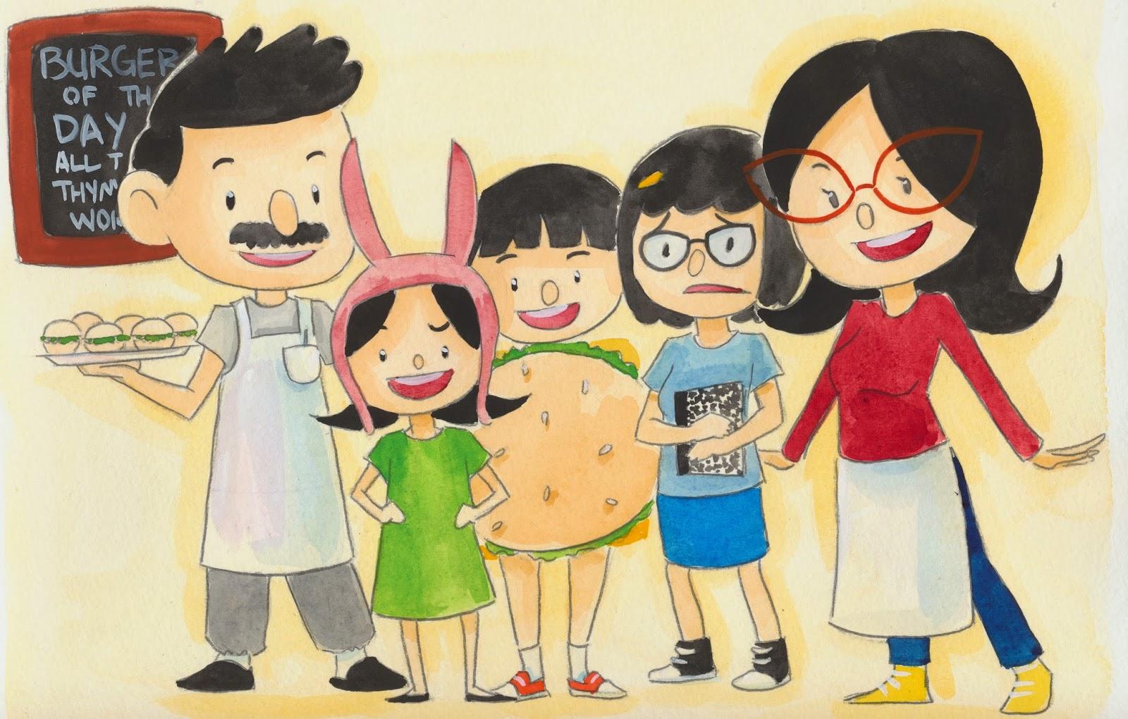Bob's Burgers Belcher Family Portrait