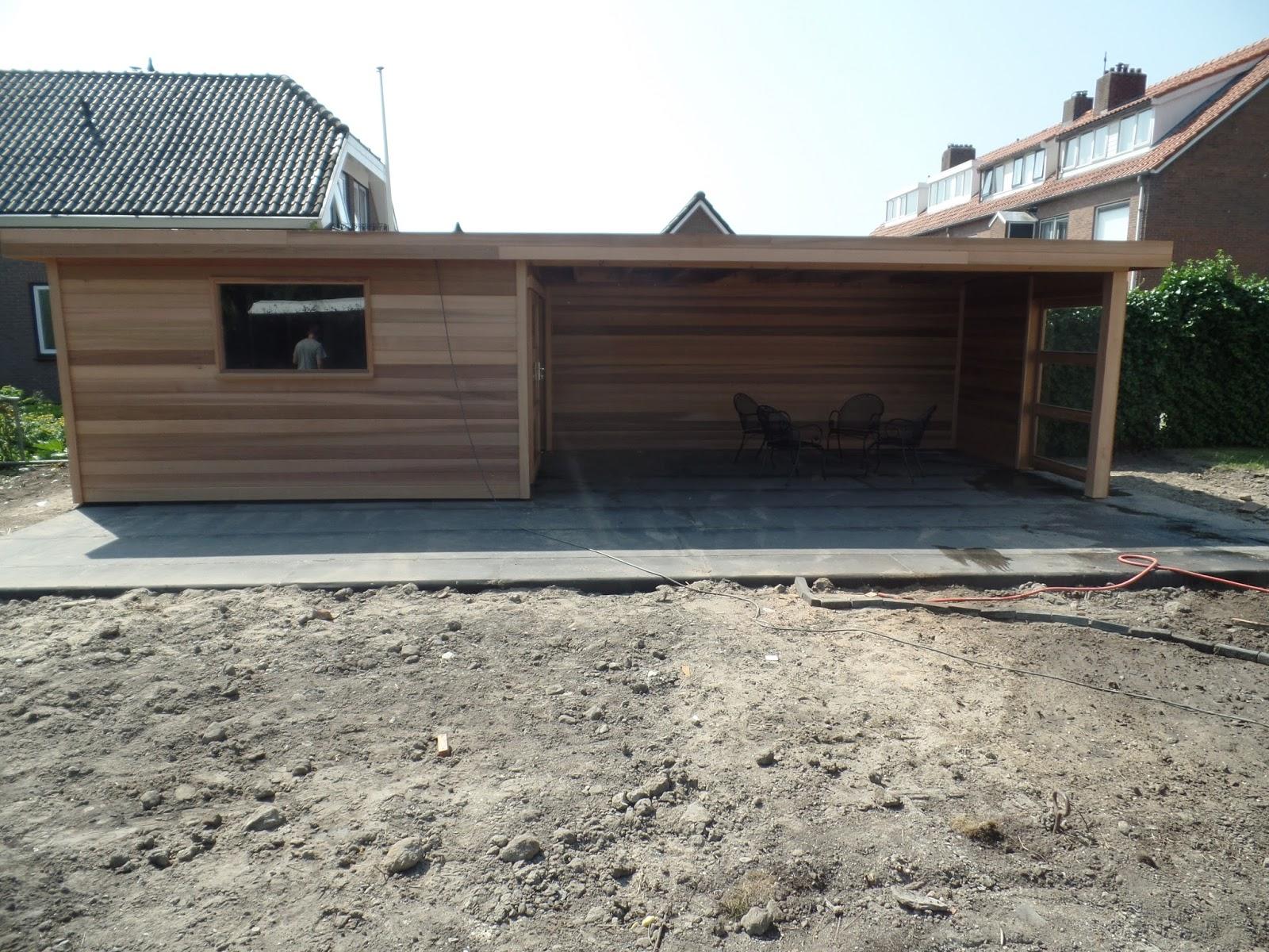 Tuinhuisjes en prieeltjes - Veranda met dakpan ...
