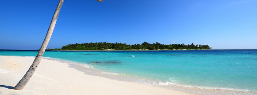 Maldivian beach facebook cover