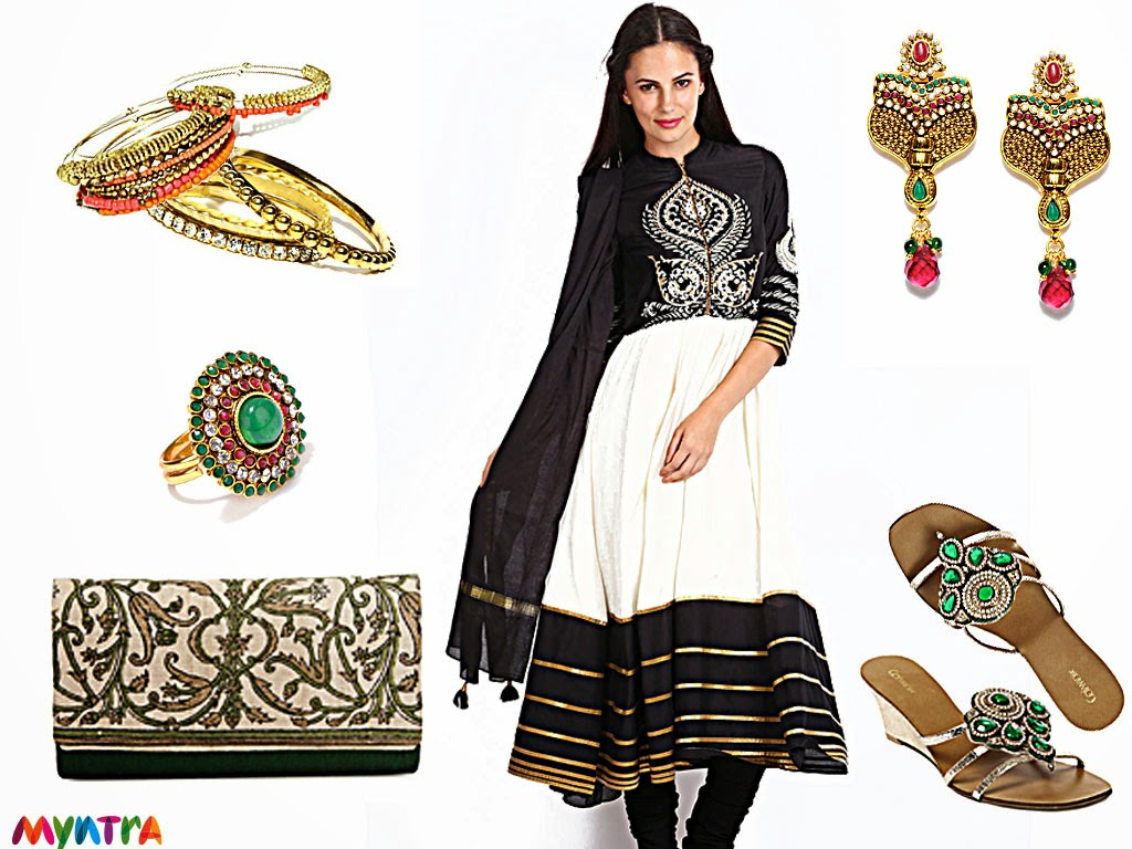 Myntra, Wishful by W, ethnic look, festive look, diwali, ethnic wear, Fabindia