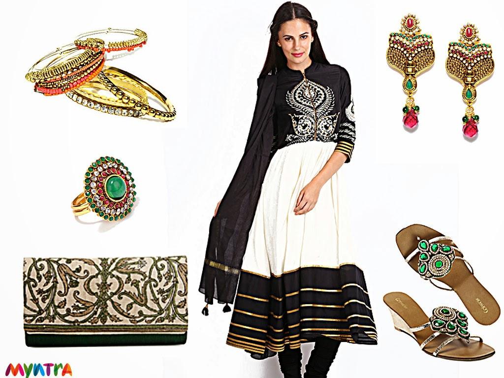 Myntra, Wishful by W, ethnic look, festive look, diwali, ethnic wear, Fabindia
