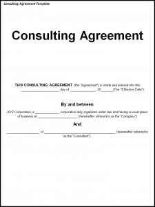 Consulting Agreement Template | posh templates