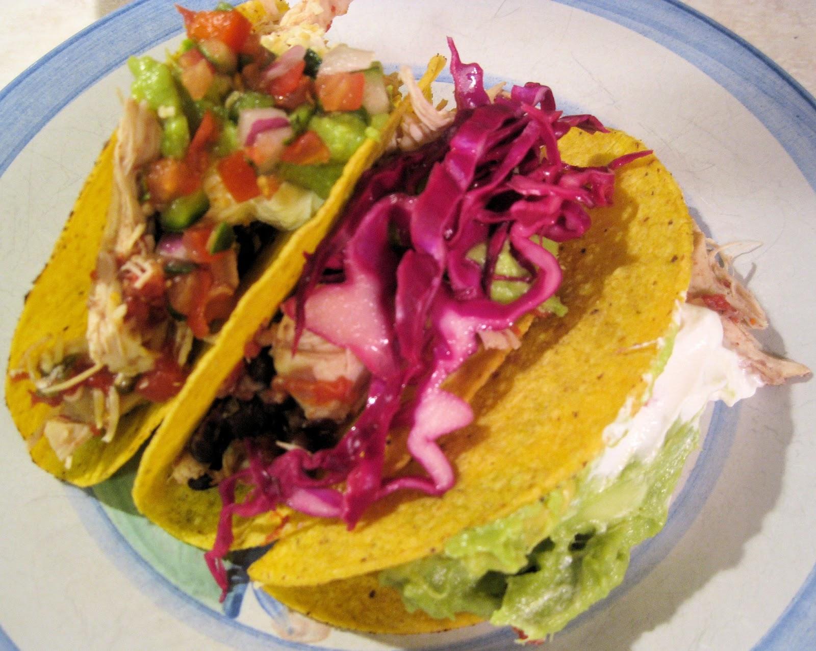 Slow Cooker Tomatillo Chicken And Black Bean Tacos Recipe — Dishmaps