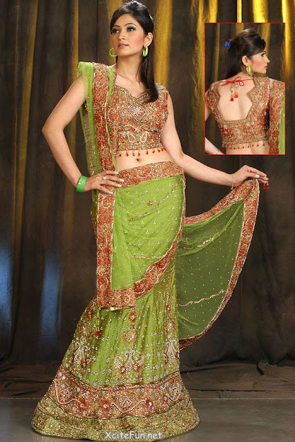 Bridal choli lehenga design