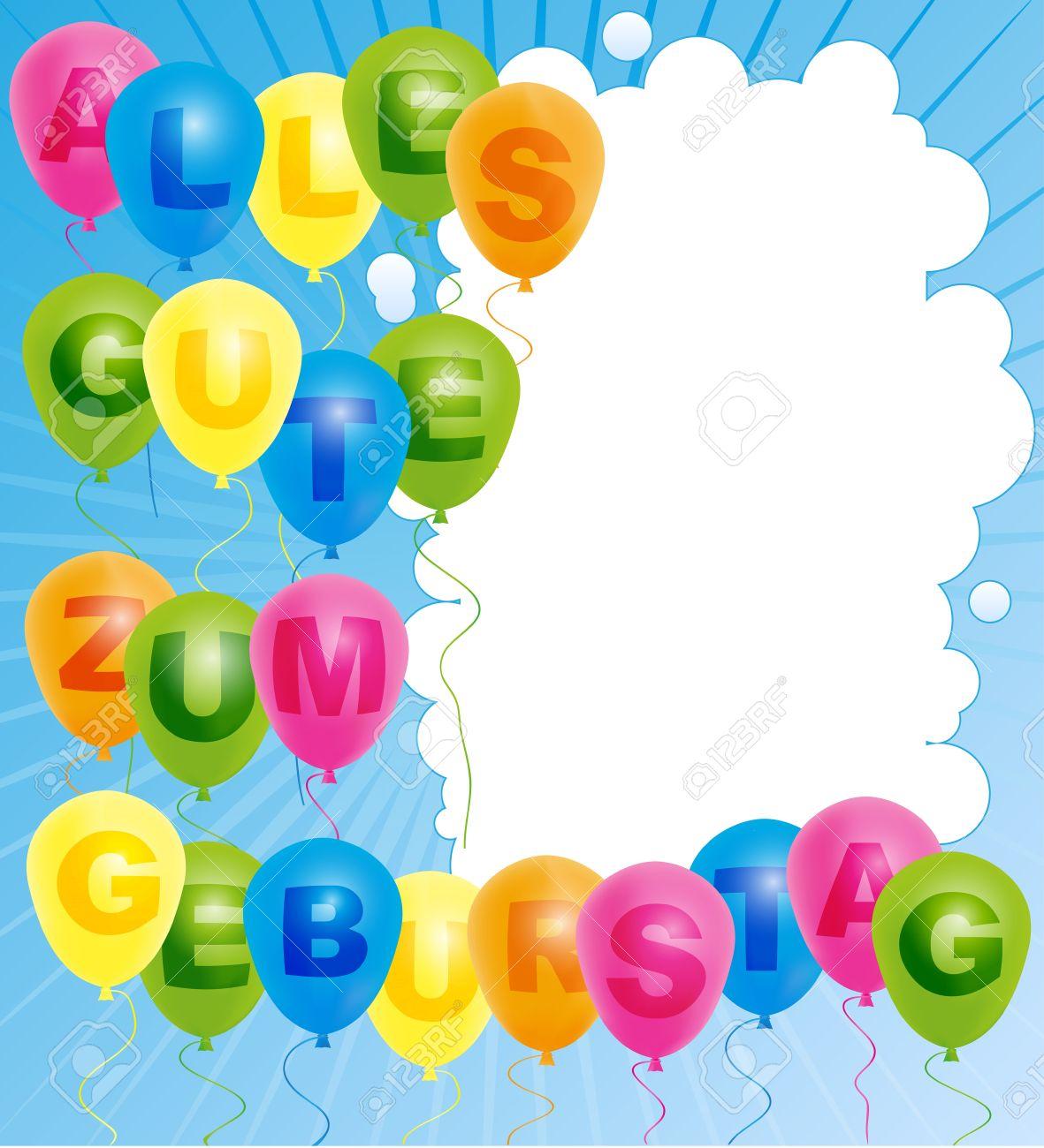 Поздравление с днём рождения на немецком языке с переводом на русский