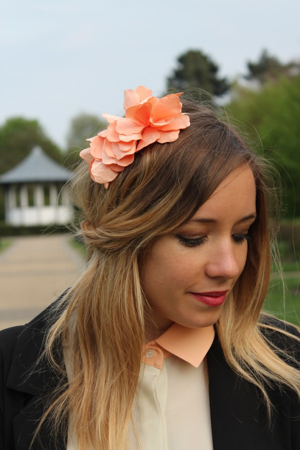 Headband corail fleur Serre tête