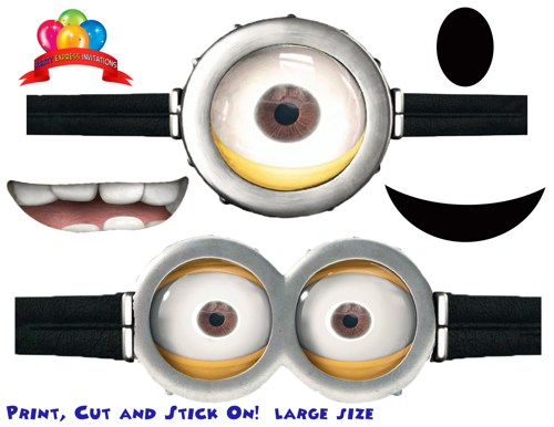 Handy image throughout printable minion goggles