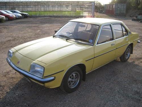 Yellow Vauxhall Cavalier Mk1
