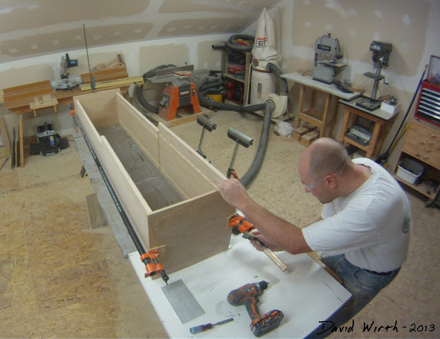 how to build a wood shelf, clamp