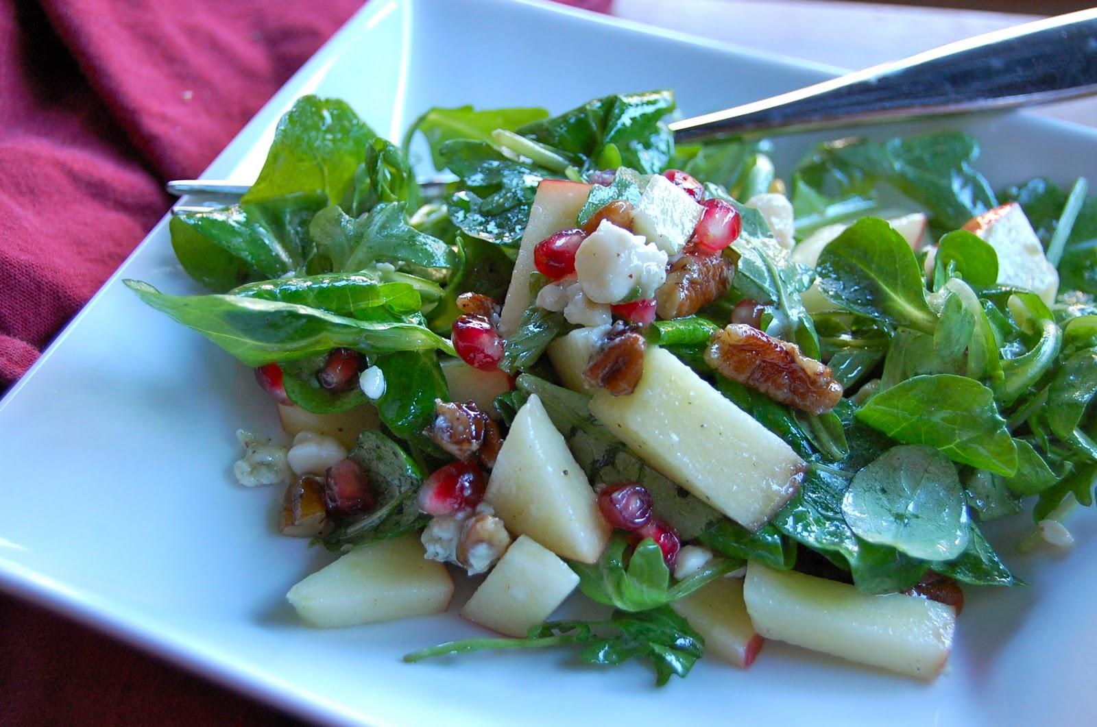 Arugula, Apple, And Pomegranate Salad With Cider-Honey ...