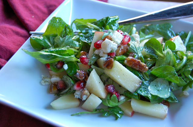 ... , Pomegranate and Arugula Salad with Apple Cider-Honey Vinaigrette