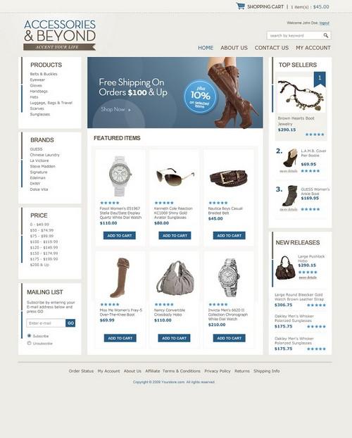 Accessories E-Store Template
