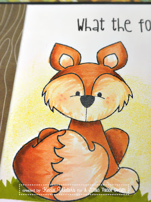 Whimsie Doodles, Kecia Waters, fox, Copic markers