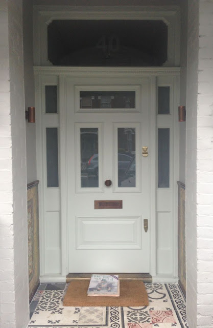 Farrow and Ball Pale Powder front door