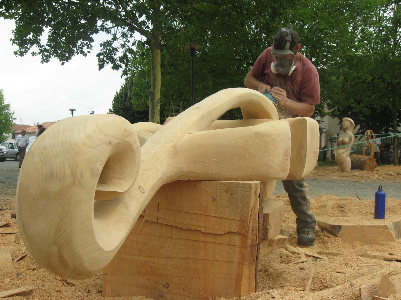 symposium de sculpture la tron onneuse foussais payr 85 dernier jour du symposium. Black Bedroom Furniture Sets. Home Design Ideas