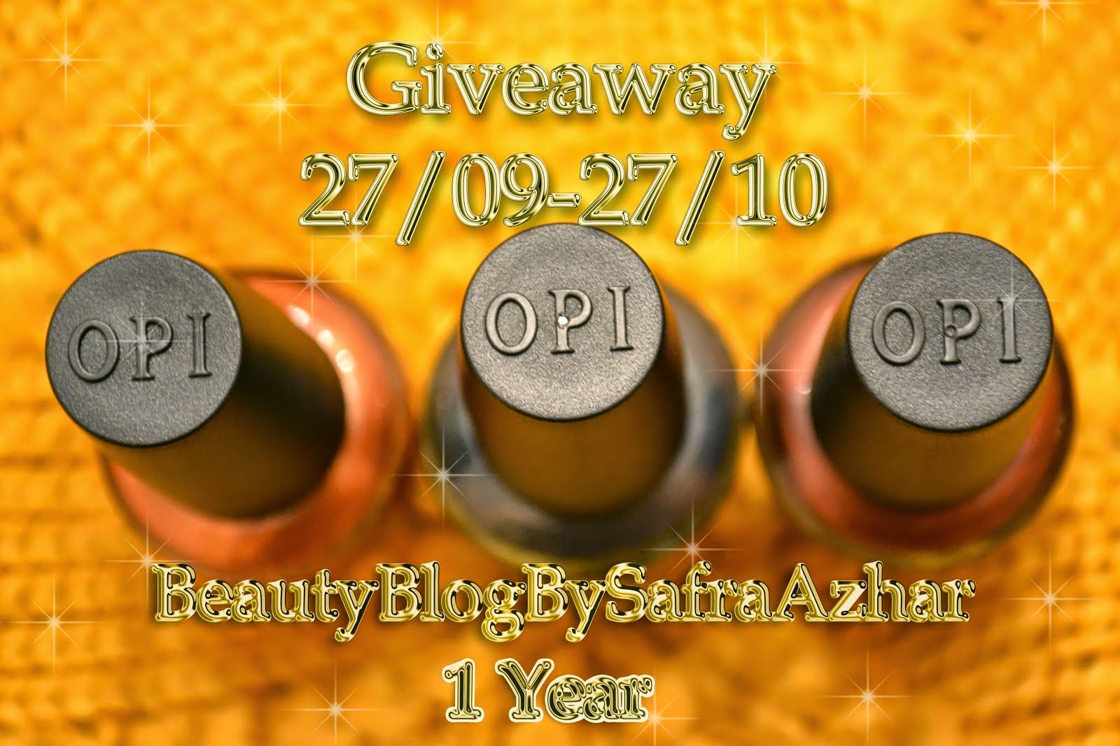 Giveaway  в честь Happy Birthday of BeautyBlogBySafraAzhar!:)