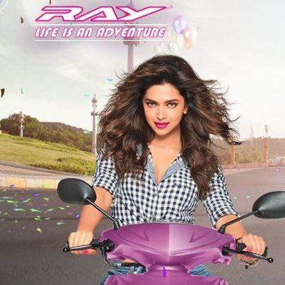 Photos: Deepika Padukone Yamaha Ray Print Ad