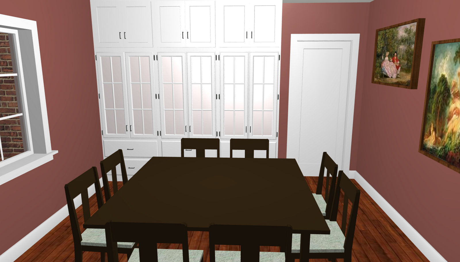 The Dining Room Off Entry Hall Which Connects To Kitchen Through A Butlers Pantry Mud