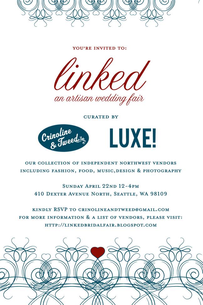 Crinoline & Tweed: Vintage Wedding Fair & Linked Bridal Fair