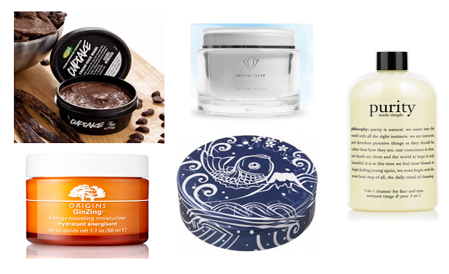 Skincare Wishlist - Lush - Origins - Steam Cream - Crystal Clear - Philosophy