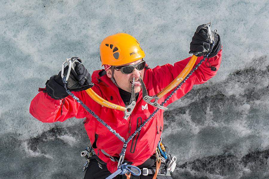 Wspinaczka w lodzie - Łukasz Kocewiak
